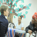 Socializing with women utilizing N Street Village's drop-in day center.