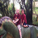 Josiah and Judah enjoying a day at the zoo and the dinosaur the exhibit