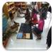 Potential teachers participate in sample Montessori training program.