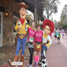 Some runners stop to get pics with characters who line cheer them on along the running route.