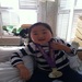 Alice with mommy's medal from last year's Disney Princess 1/2