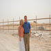 Pastor Josh Manley and his wife Jenny standing on the plot of land where the church center will be built