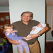 Grandad Alan with Teagan and her baby brother
