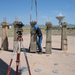 Start of Bracewell Sundial Construction at the VLA Visitor Center
