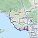 The Route I'm Walking from Ojai to Los Angeles