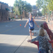 2010 Sioux Falls Marathon...high fives for my daughters, nieces, and nephew.