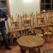 Donated school desks and chairs