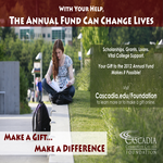 Cascadia Community College Foundation - 2012 Annual Fund Campaign