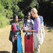 Maasai woman learning English names of local birds during guide training..