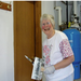 Rita Metcalfe paints for ARC on the United Way's Day of Caring