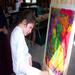 Hannah Flavin enjoying painting at a family fun day.