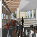 Design rendering of the library interior
