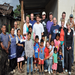 The 2010 Vision Team along with Tom, Gavan, and the family for which the house was built.