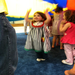 Enjoying a music class with a parachute!