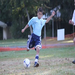 My son Sam, about to boot the ball.  His participation in soccer is a stepping stone to building self confidence.