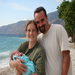 In Haiti, with our beautiful daughter Abigail, who was born at the Heartline Maternity Center. We believe in this cause!