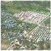 Aerial view of the construction site in Leogane where 154 houses were built. A further 100 will be built this November.