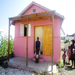 One of the completed houses in Leogane, Haiti.