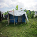 One of the shacks where the Haitian families were living in before their new homes were complete. (Leogane, Haiti)