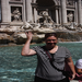 My beautiful wife Linda making a wish at Trevi Fountain