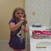 Brushing teeth at the Ronald Mc Donald House