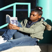 Engrossed in a good book!  Tenacity reinforces literacy programs.