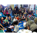 ECT Teaching Artist, Tony Jones, leading an Open Classroom Family Literacy event at Metcalf Preschool, Holyoke.