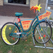 We've placed Wayfinding Art Bikes around the neighborhood to encourage walkers and bikers and to brighten up the street.
