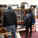 The new books shelves are a popular place for browsing the new titles.