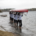 Boys Novice boat launching at the Mass Publics Regatta