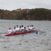 Novice 8 on the water at Mass Publics
