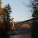 View of the historic French King Bridge in Gill, MA