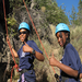 A youth course rock climbing at the Mazama base