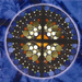 Rose window dedicated to the priests and nuns who have served our parish