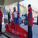 Orginal Red Sled, Seated Para Driver , Amputee and coach ready to go at Park City Track