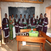 Masai girls in Kwale village received solar lights to be able to continue their studies after dark.