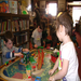 Trains, toys, books, and more are fun in the kids room!