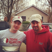 Ryan Harrivan with a member of Team Rubicon in Union Beach, NJ