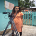 Niyati, one of our Board members, filming in Ghana.
