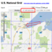 Example of How a Mashup Works - The technology to determine USNG coordinates is laid over Google Maps