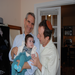 Rabbi Greenberg is a participant in WE HAVE FAITH. The photo is of the Rabbi, Steven Goldstein, and baby Amalia.