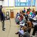 (The Republican/Mark M. Murray) Hal Holbrook meets with Holyoke High School students