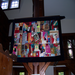 Quilt created by children in Crazy Quilt workshop sponsored by the Friends, June, 2012
