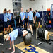Students in the weight room