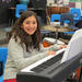 Layla plays the piano in the intermediate ensemble. Finally, a chance to use her skills as part of a group!