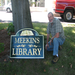 New Meekins Sign, thanks to the Friends of Williamsburg Libraries