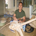 Basket weaving generates income to support Katalina Lafaele's family in Samoa.