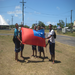 Samoan children displaying national pride before Manu Samoa rugby match (for Rugby World Cup 2011)