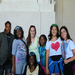 Ms. Kirby, Ms. Cumming, and students at the Lincoln Memorial
