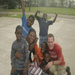 Brian and I with some kids from the Saw Mill quarters